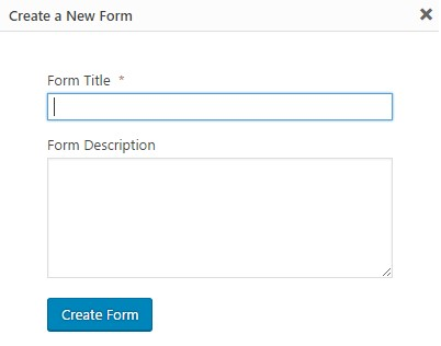 Create a New Form Screen
