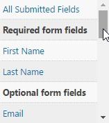 Merge Fields Menu