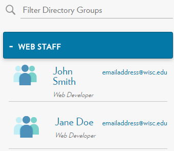 Directory Listing by Groups - Expanded
